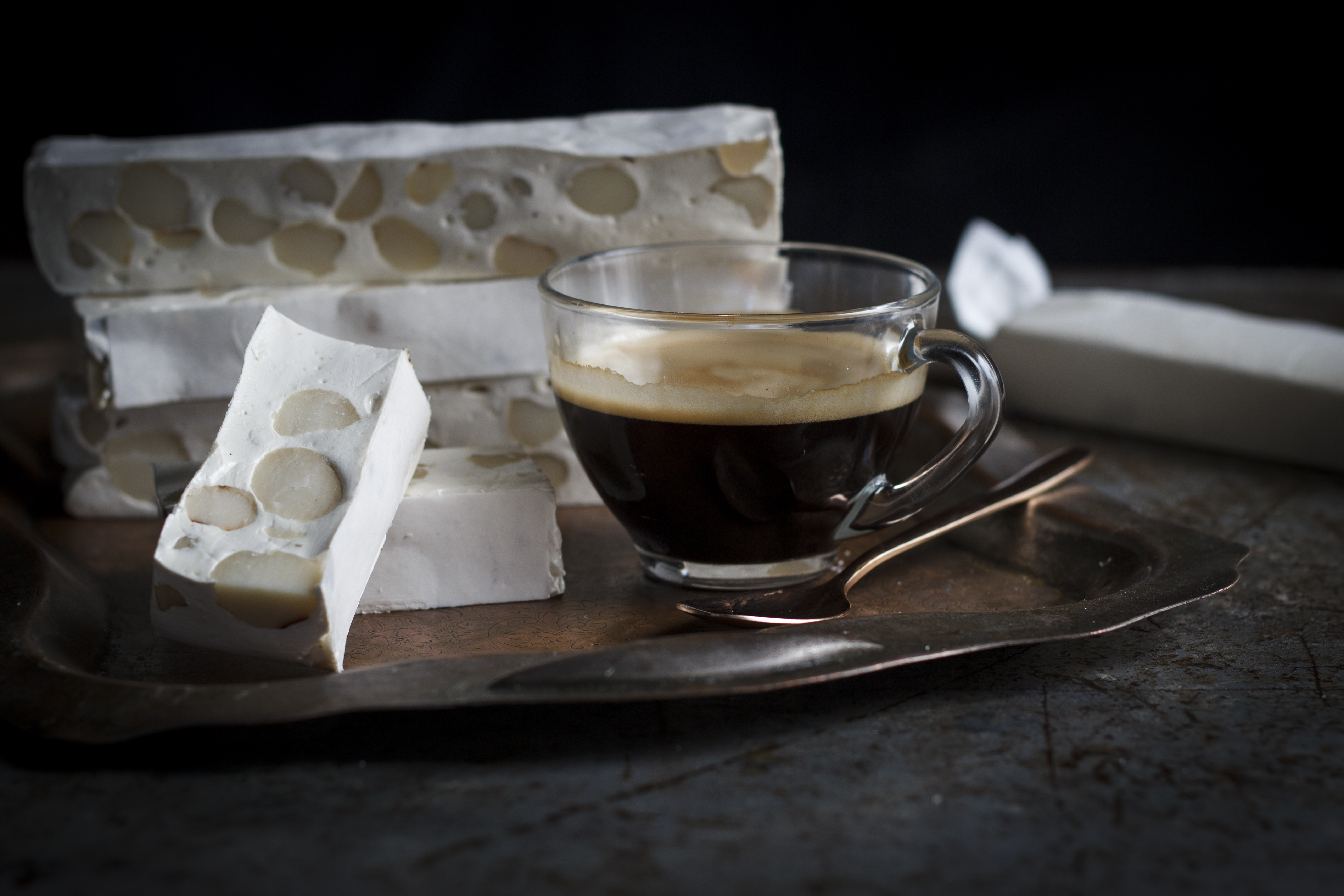 Homemade Vanilla Olive Oil Nougat with Macadamia Nuts