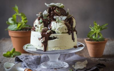 Chocolate Peppermint Crisp Ice Cream Cake