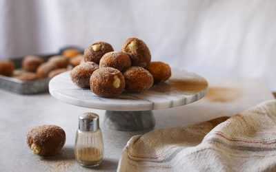 Doughnuts Stuffed with Milk Tart Filling